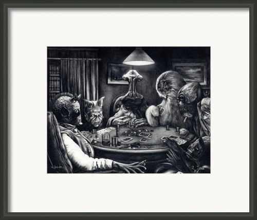 Bold Bluff - Star Wars Cantina Aliens Framed Print By Ryan Jones
