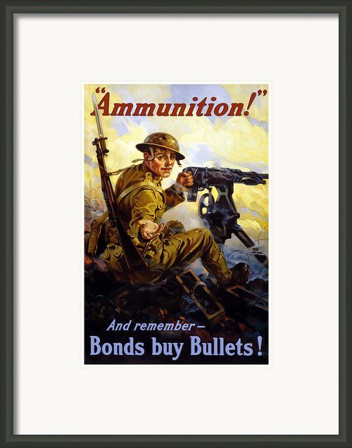 Bonds Buy Bullets Framed Print By War Is Hell Store