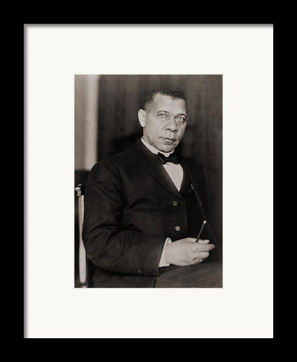 Booker T. Washington 1856-1915, Became Framed Print By Everett