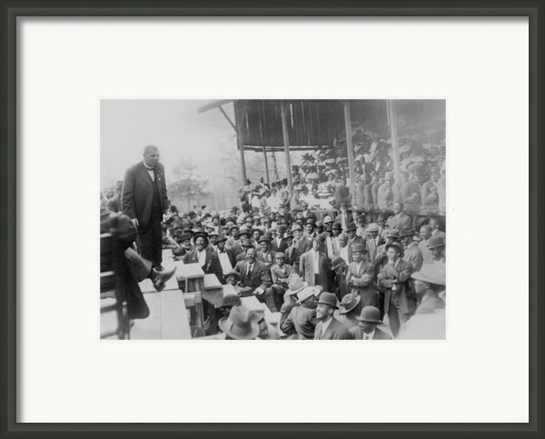 Booker T. Washington Addressing Framed Print By Everett
