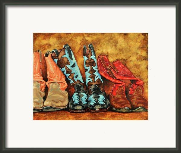 Boots Framed Print By Lesley Alexander