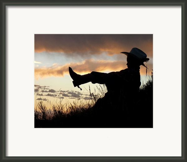 Boots On Framed Print By Carla Froshaug