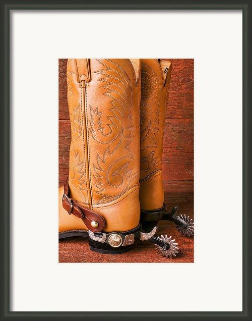 Boots With Spurs Framed Print By Garry Gay