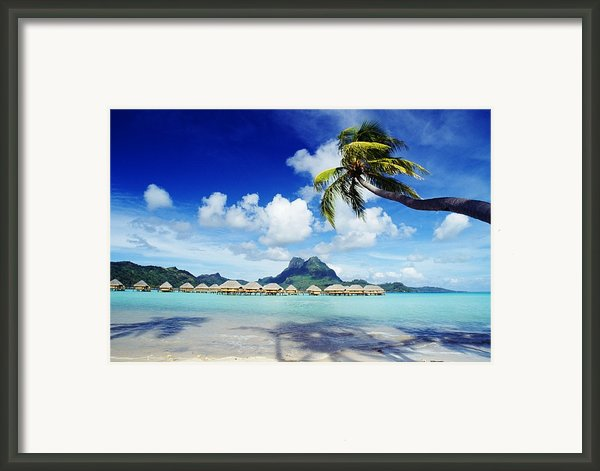 Bora Bora, Lagoon Resort Framed Print By Himani - Printscapes