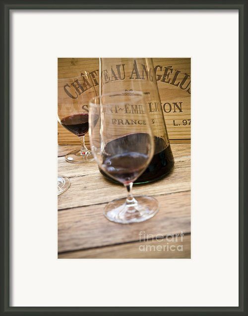 Bordeaux Wine Tasting Framed Print By Frank Tschakert