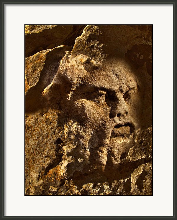 Born In Stone 3 Framed Print By Algis Kemezys