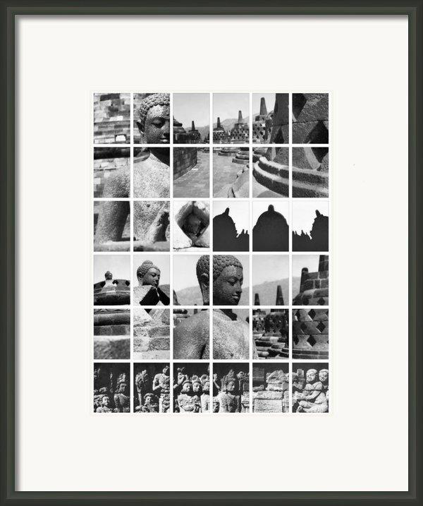 Borobudur In Frame Framed Print By Mario Bennet