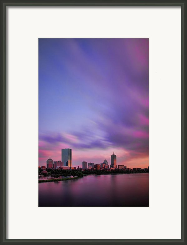 Boston Afterglow Framed Print By Rick Berk