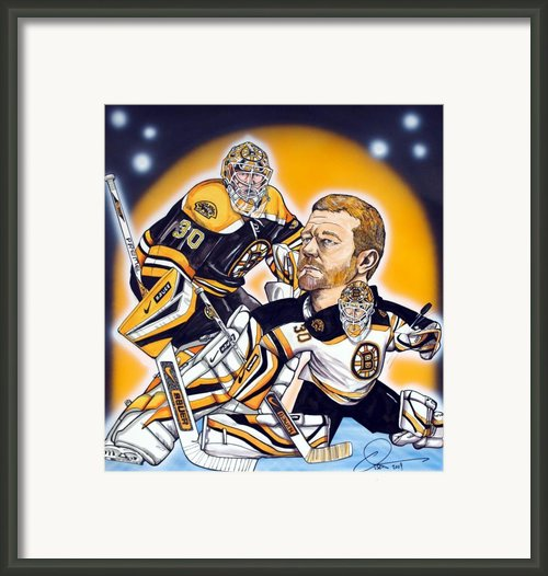 Boston Bruins Goalie Tim Thomas Framed Print By Dave Olsen