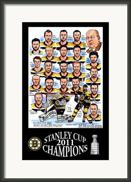 Boston Bruins Stanley Cup Champions Framed Print By Dave Olsen