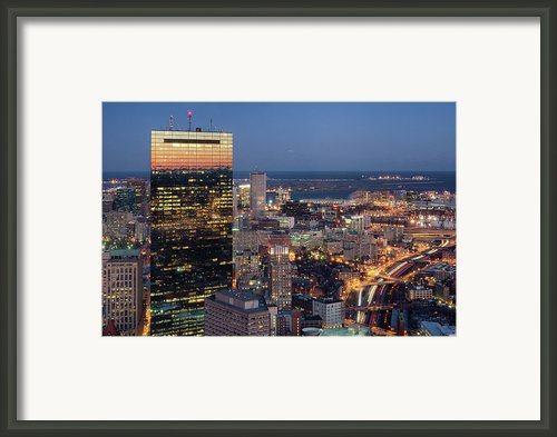 Boston By Night. Framed Print By Linh H. Nguyen Photography