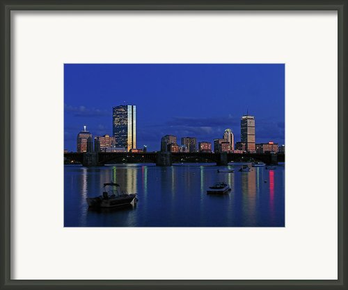 Boston City Lights Framed Print By Juergen Roth