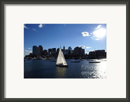 Boston Harbor Framed Print By Olivier Le Queinec