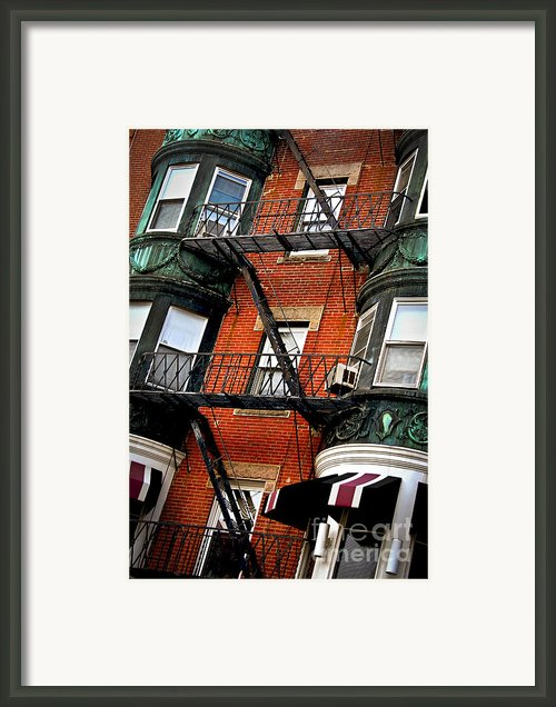 Boston House Fragment Framed Print By Elena Elisseeva