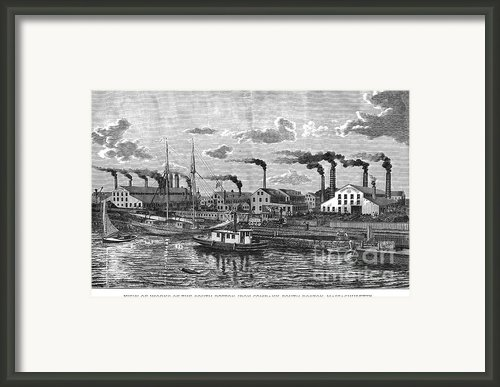 Boston: Iron Foundry, 1876 Framed Print By Granger