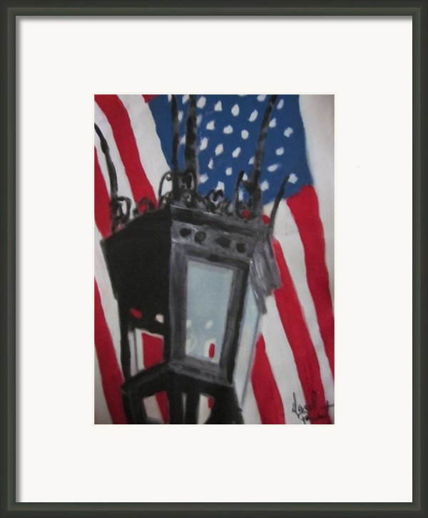 Boston Lightpost Framed Print By David Poyant