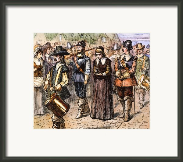 Boston: Mary Dyer, 1660 Framed Print By Granger