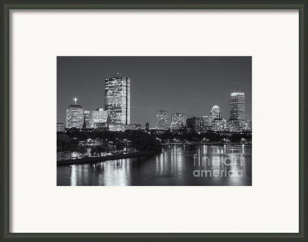 Boston Night Skyline V Framed Print By Clarence Holmes