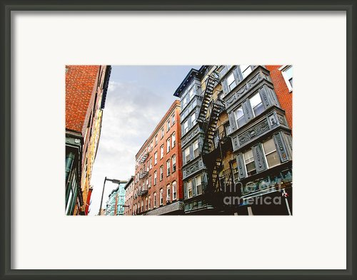 Boston Street Framed Print By Elena Elisseeva