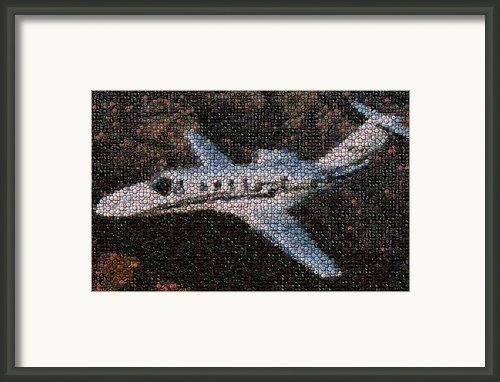 Bottle Cap Cessna Citation Mosaic Framed Print By Paul Van Scott