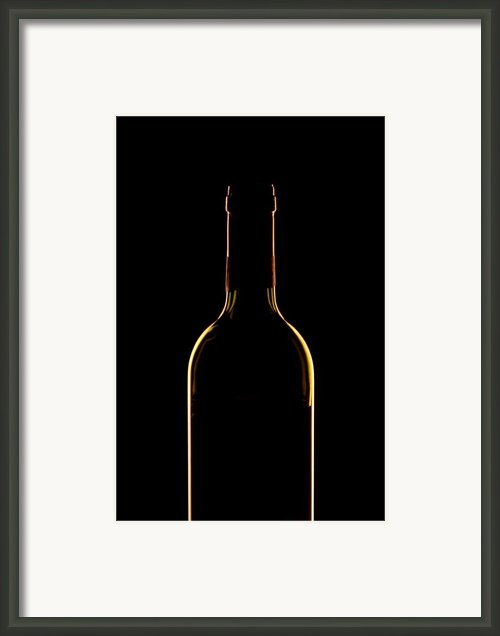 Bottle Of Wine Framed Print By Andrew Soundarajan