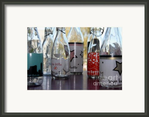 Bottles Framed Print By Tanja Hymel
