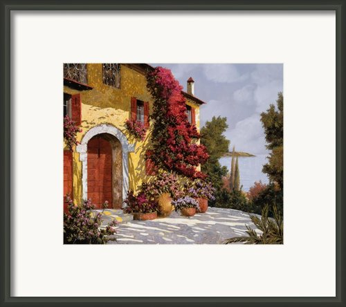 Bouganville Framed Print By Guido Borelli