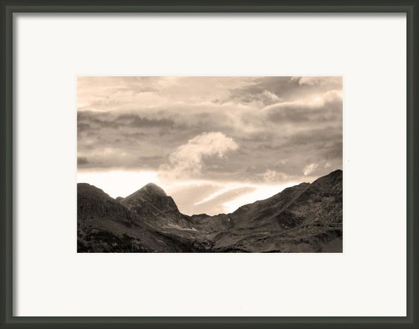 Boulder County Indian Peaks Sepia Image Framed Print By James Bo Insogna