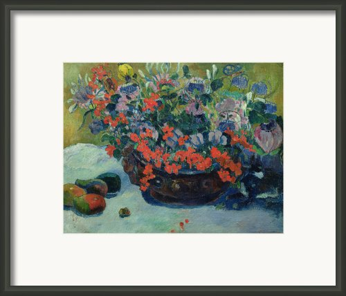 Bouquet Of Flowers Framed Print By Paul Gauguin