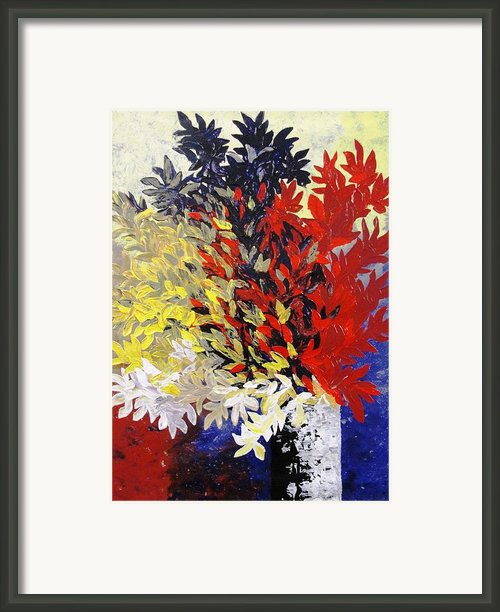 Bouquet Of Petals Framed Print By Shilpi Singh