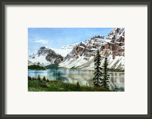 Bow Lake Alberta No.2 Framed Print By Debbie Homewood