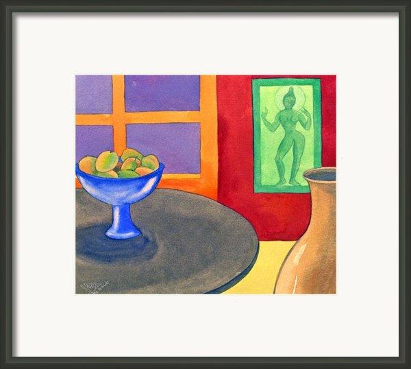 Bowl Of Mangoes Framed Print By Jennifer Baird