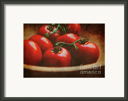 Bowl Of Tomatoes Framed Print By Toni Hopper