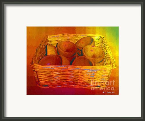 Bowls In Basket Moderne Framed Print By Rc Dewinter
