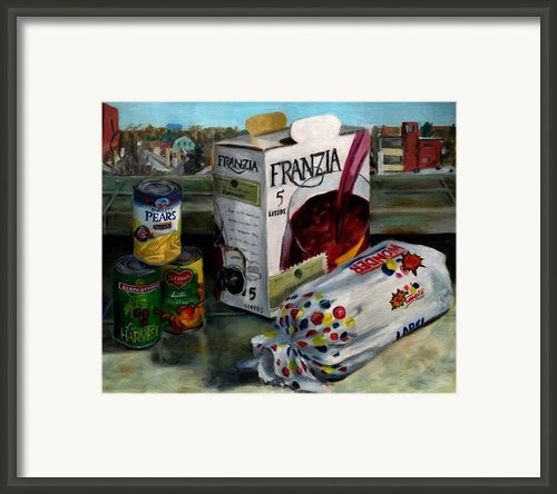Box Wine With Bread No. 1 Framed Print By Thomas Weeks