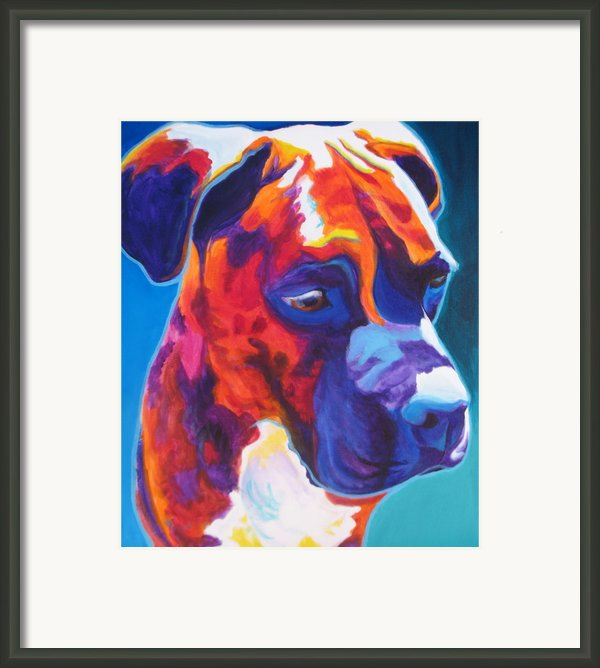 Boxer - Jax Framed Print By Alicia Vannoy Call