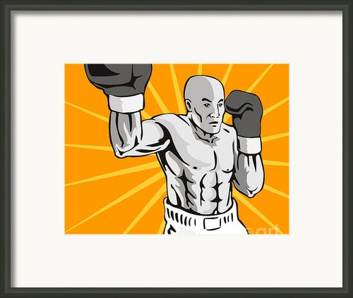 Boxer Boxing Knockout Punch Retro Framed Print By Aloysius Patrimonio