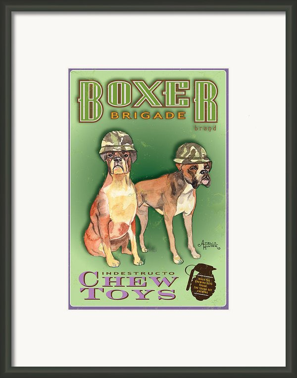 Boxer Brigade Chew Toys Framed Print By Amelia Hunter