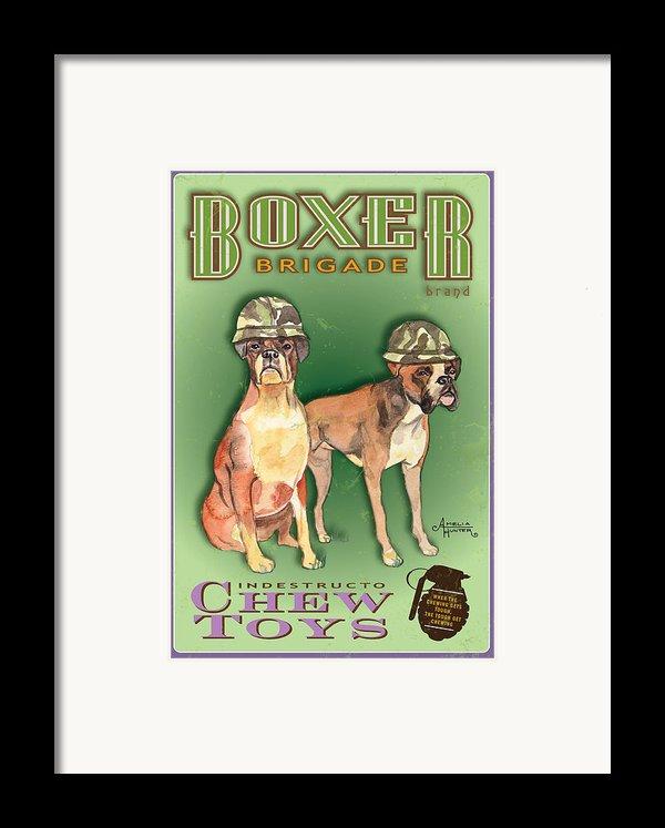 Boxer Brigade Chew Toys Framed Print By Amelia Hunter