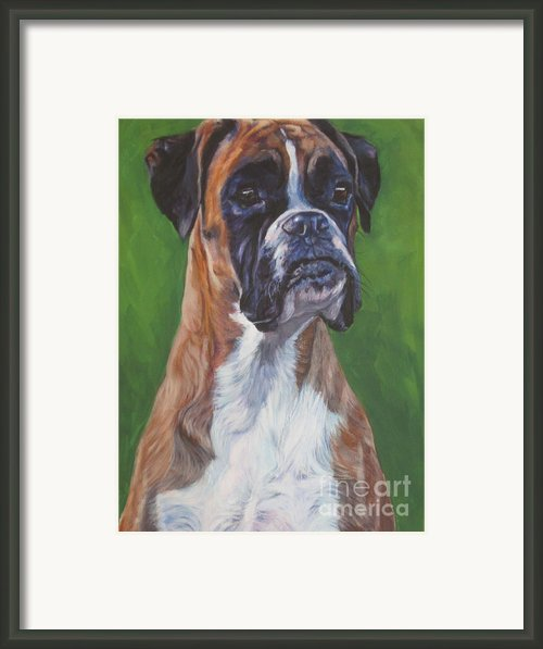 Boxer Framed Print By Lee Ann Shepard