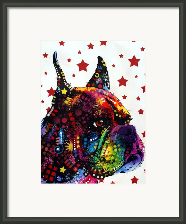 Boxer Love Framed Print By Dean Russo