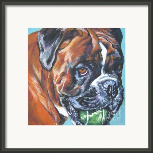 Boxer Tennis Framed Print By Lee Ann Shepard
