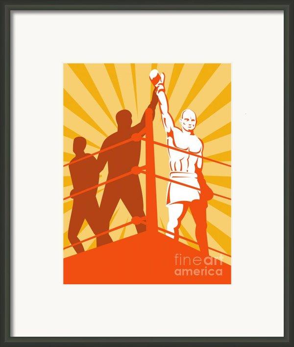 Boxing Champion Framed Print By Aloysius Patrimonio