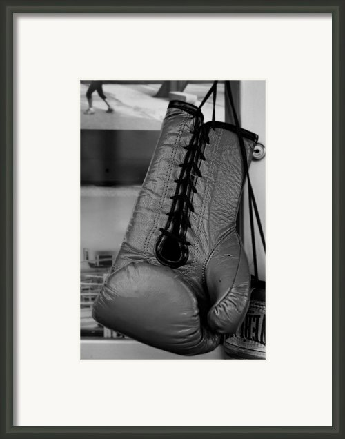 Boxing Glove Framed Print By Robert Ullmann