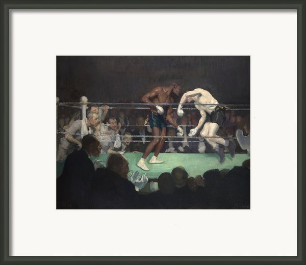 Boxing Match Framed Print By George Luks