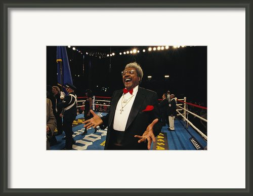Boxing Promoter Don King In The Boxing Framed Print By Maria Stenzel