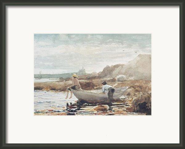 Boys On The Beach Framed Print By Winslow Homer