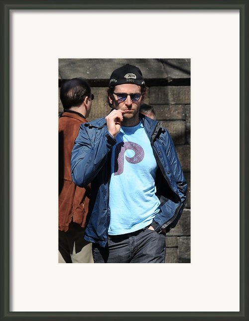 Bradley Cooper On Location Film Shoot Framed Print By Everett
