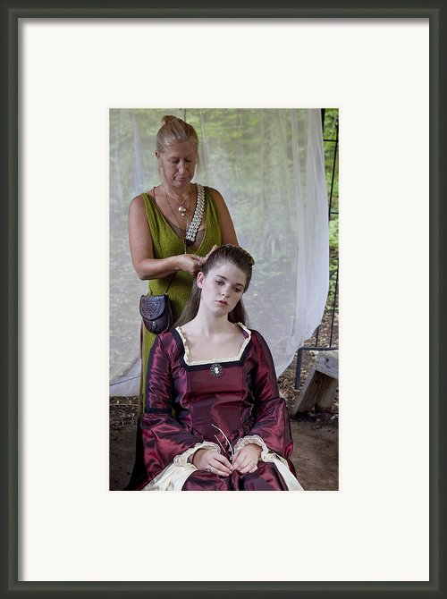 Braids Framed Print By Charles Warren