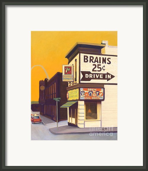 Brains And Donuts Framed Print By The Vintage Painter